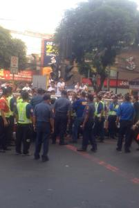 The crowd showed cooperation with the PNP (c) Denzel Almanzor